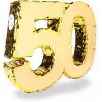 Gold Foil Pinata for 50th Birthday Party (16.5 x 13 In) - PACK