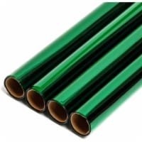 Clear Green Cellophane Gift Wrapping (17 in x 10 Feet, 4 Pack) - PACK