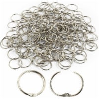 Loose Leaf Book Binder Rings, Metal Keychain Clips for DIY (1 Inch, 160 Pack) - PACK