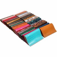 Faux Leather Sheets for DIY Jewelry, Earrings, Bows (8.3 x 6.3 in, 35 Colors) - PACK