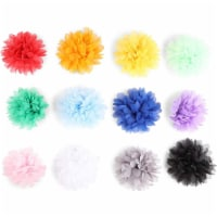 4 Pcs Chiffon Fabric Artificial Flowers for DIY Crafts, Girl's Flower Headbands - PACK