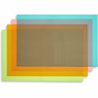 Okuna Outpost Plastic Refrigerator Liners, Shelf Mats in 4 Colors (17.75 x 11.4 in, 16 Pack) - Pack