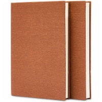 Hardbound Lined Journals, 144 Sheets, 288 Pages, A5 Size (Brown, 2 Pack) - PACK