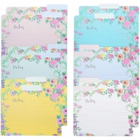 Decorative File Folders, 1/3 Cut Tab, Letter Size, Floral Notes Section (12 Pack) - PACK