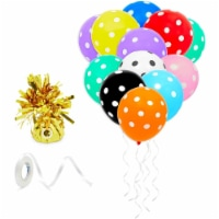 150 Rainbow Balloons Party Decorations, 1 Gold Weight, 1 Ribbon - PACK