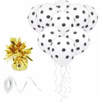 White Latex Balloons with Gold Weight for Birthday Party Decor (12 In, 50 Pack) - PACK