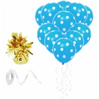 Blue Polka Dot Balloons with Weight for Boy Birthday Party Decorations (50 Pack) - PACK