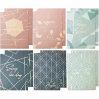 Decorative Pocket File Folders, Rose Gold Office Supplies (9.5 x 11.5 in, 12 Pack) - PACK