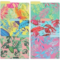 Tropical Decorative File Folders with 1/3 Cut Tabs, Letter Size (12 Pack) - PACK
