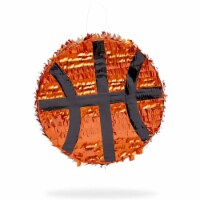 Small Basketball Piñata for Sports Birthday Party (13 x 13 x 3 Inches) - PACK