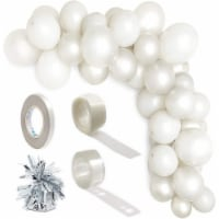 Latex Balloons with Balloon Weights, Grey Party Decorations (64 Pieces) - PACK