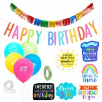 Happy Birthday Rainbow Car Decorations for Parade, Balloons, Banner, and Signs - PACK