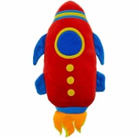 Rocket Ship Plush Toy, Stuffed Outer Space Shuttle (14 Inches)
