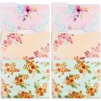 Plastic Floral File Folders, 1/3 Cut Tabs (Letter Size, 6 Pack) - PACK