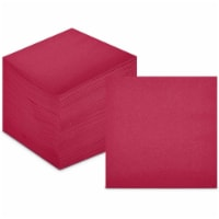 Burgundy Paper Cocktail Napkins, Party Supplies (5 x 5 Inches, 200 Pack) - PACK