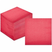 Coral Paper Cocktail Napkins, Pink Party Supplies (5 x 5 Inches, 200 Pack) - PACK