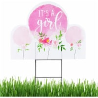 Baby Shower Yard Signs with Stakes, It's A Girl (17 x 13 In, 2 Pack) - Pack