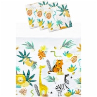 Safari Tablecloths for Birthday Party Decorations (54 x 108 in, 3 Pack) - PACK