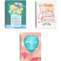 Christian Inspirational Journals, Spiral Bound Notebooks (6 x 8 in, 3 Pack) - PACK