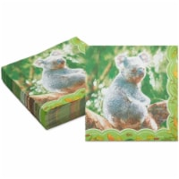 Koala Paper Napkins for Kid's Outback Safari Birthday Party Supplies (6.5 In, 150 Pack) - PACK
