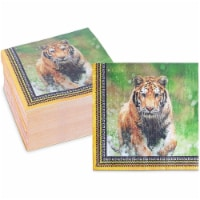 Safari Birthday Party Paper Napkins with Tigers (6.5 In, 150 Pack) - PACK