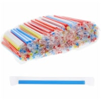 Extra Wide Plastic Boba Drinking Straws (Red, Blue, Yellow, White, 300 Pack) - PACK