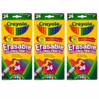 Erasable Colored Pencils, 24 Per Box, 3 Boxes - 1