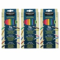 Colored Pencils, 36 Colors Per Box, 3 Boxes - 1