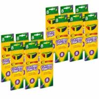 Colored Pencils, 8 Colors Per Box, 12 Boxes - 1