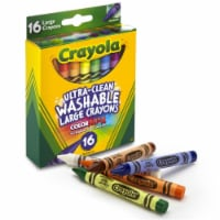 Crayola BIN523281-6 Washable Crayons, Large - 16 Count - Box of 6