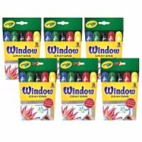 Crayola BIN529765-6 Washable Window Crayons - Box of 6