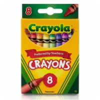 Crayola BIN3008-24 Crayons 8 Color Peggable - Box of 24 - 1