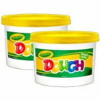 Crayola BIN1534-2 3 lbs Modeling Dough Bucket, Yellow - 2 Each