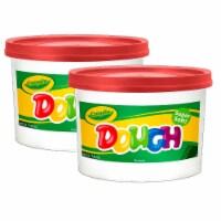 Crayola BIN1538-2 3 lbs Modeling Dough Bucket, Red - 2 Each - 1