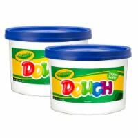 Crayola BIN1542-2 3 lbs Modeling Dough Bucket, Blue - 2 Each