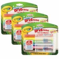 Washable Dry Erase Markers, Fine Line, 12 Per Box, 3 Boxes - 1
