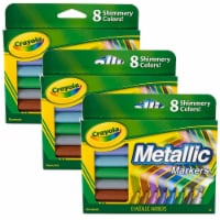 Metallic Markers, 8 Per Box, 3 Boxes - 1