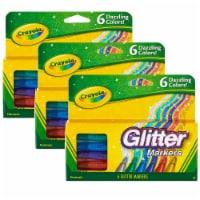 Glitter Markers, 6 Per Box, 3 Boxes