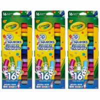 Pip Squeaks Washable Markers, Conical Tip, 16 Per Box, 3 Boxes - 1