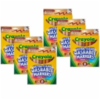 Multicultural Markers, Broad Line, 8 Per Box, 6 Boxes - 1