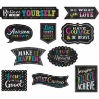 Chalkboard Brights Clingy Thingies® Positive Sayings Accents, 10 Per Pack, 2 Packs - 1