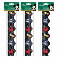 Mickey® Color Pop! Apple, Pencil, World Extra Wide Deco Trim®, 37 Feet Per Pack, 3 Packs - 1