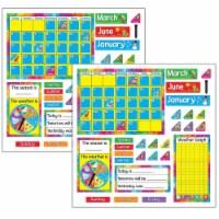 Year Around Calendar Bulletin Board Set, 2 Sets - 1