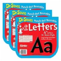 Dr. Seuss™ Black Deco 4  Letters, 217 Per Pack, 3 Packs - 1
