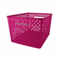 Romanoff Products ROM74207-2 Large Hot Pink Woven Basket - 2 Each - 1