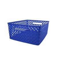 Romanoff Products ROM74104-3 Medium Blue Woven Basket - 3 Each - 1