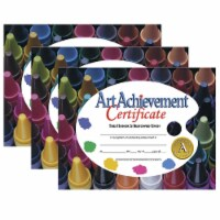 Art Achievement Certificate, 8.5  x 11 , 30 Per Pack, 3 Packs - 1