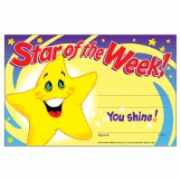 Trend Enterprises T-8107-6 Awards Star Of The Week, 5 x 8 in. - 30 Per Pack - Pack of 6