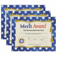Merit Award Certificate, 8.5  x 11 , 30 Per Pack, 3 Packs - 1