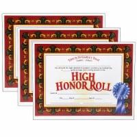 High Honor Roll Certificate, 30 Per Pack, 3 Packs - 1